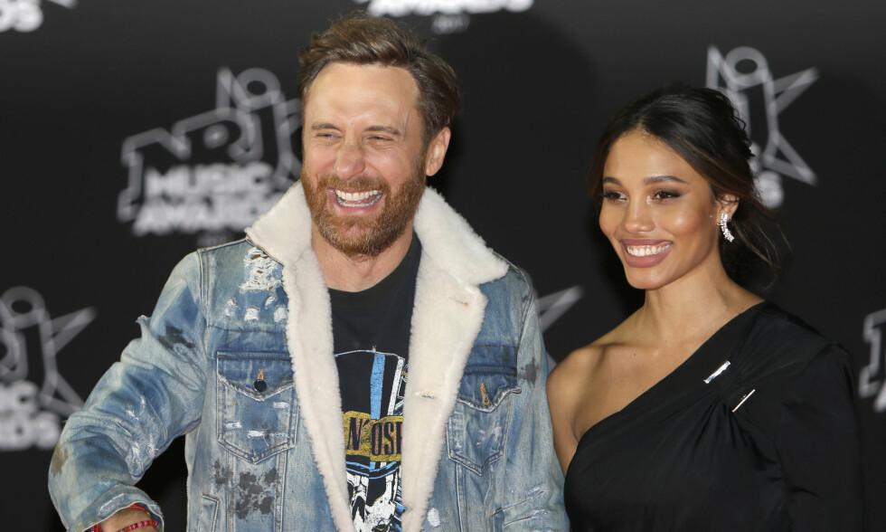 FORLOVET?: Det spekuleres heftig i en en rekke internasjonale medier om David Guetta har fridd til sin kjære Jessica Ledon. Foto: NTB Scanpix
