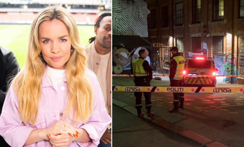 MÅTTE EVAKUERE: «Idol»-dommer Silje Larsen Borgan måtte i helgen evakuere fra jobben på utestedet Blå i Oslo. Foto: NTB Scanpix