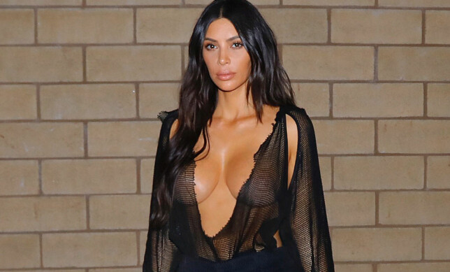 DRY: It's not just Instagram's Kim. Here is an image that was set on the way to dinner with her husband - wearing a top-notch challenge. Photo: NTB Scanpix
