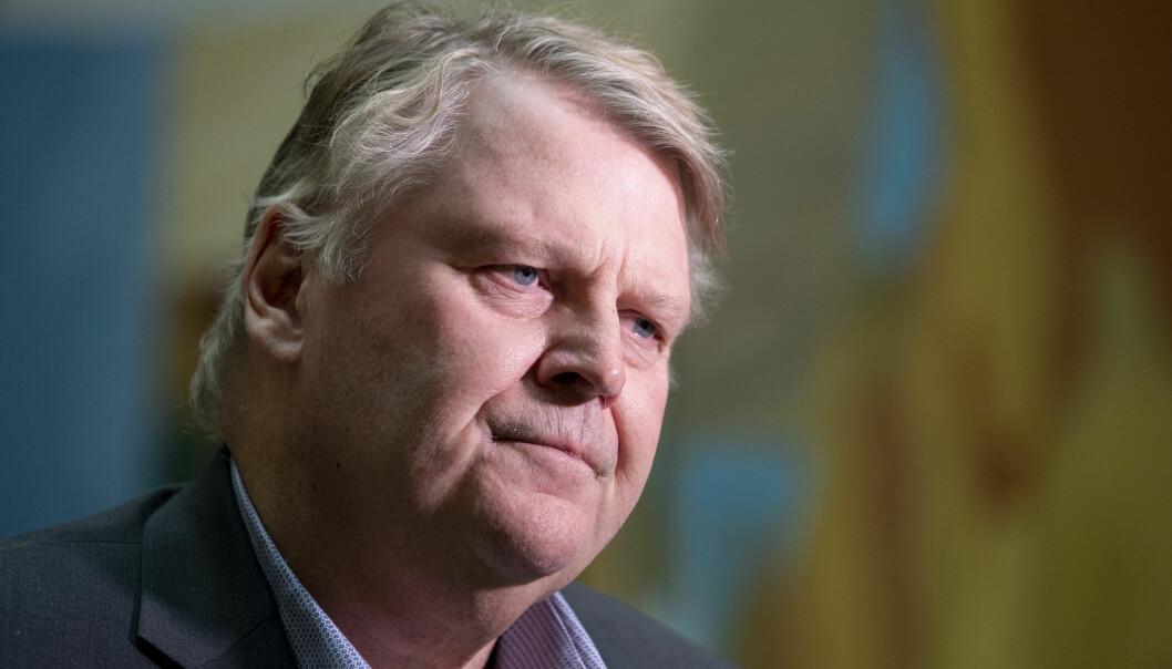 <strong>MISTILLIT?:</strong> Hans Fredrik Grøvan vil ikke si hvordan han stiller seg til mistillit i terrorsikringssaken, men understreker at KrFs stortingsgruppe ikke har konkludert ennå. Foto: Håkon Mosvold Larsen / NTB Scanpix