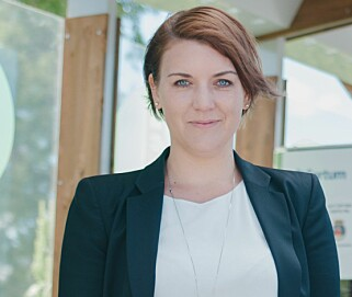 STORFORNØYD: Christina Bu er generalsekretær i Norsk elbilforening. Foto: Elbilforeningen