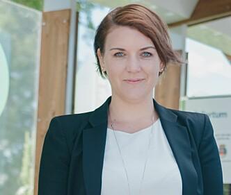 <strong>STORFORNØYD:</strong> Christina Bu er generalsekretær i Norsk elbilforening. Foto: Elbilforeningen
