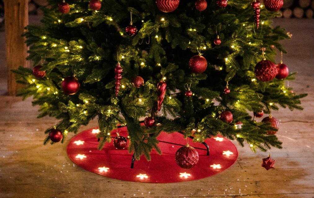 <strong>EKTE ELLER KUNSTIG?:</strong> Stadig flere av oss bytter ut julegrana med kunstige trær. De beste er det faktisk vanskelig å se forskjell på. Foto: Europris