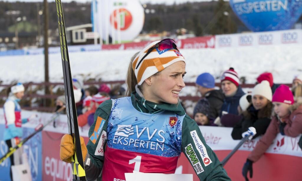 TILBAKE: Det ble et emosjonelt comeback for Therese Johaug på Beitostølen forrige helg. Foto: Terje Pedersen / NTB scanpix