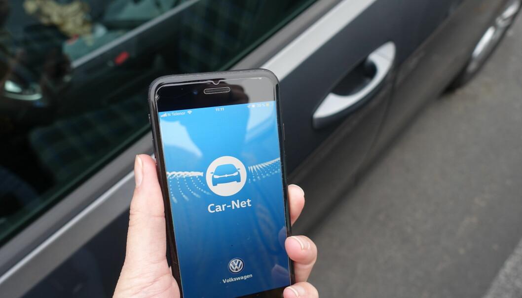 «LÅS OPP BILEN»: Nå kan du be Siri om å låse opp bilen for deg. Foto: Christina Honningsvåg