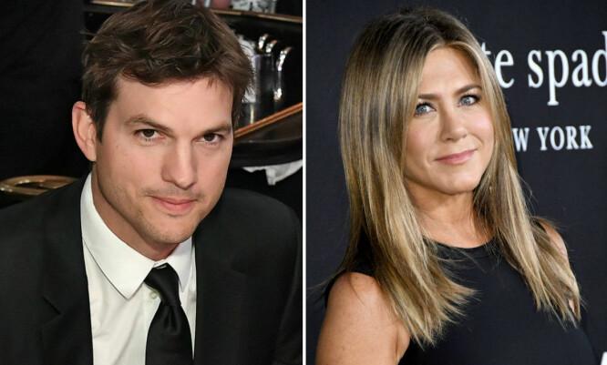VEDDEMÅL: Ashton Kutcher var så sikker på at han en dag kom til å date Jennifer Aniston at han inngikk veddemål med en kompis. Noe stevnemøte ble det likevel aldri. FOTO: Scanpix