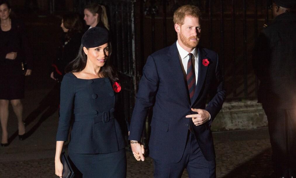 FLYTTER: Prins Harry og hertuginne Meghan har fått tildelt et eget hus i Windsor, og flytter ut av Kensington Palace allerede neste år. Foto: NTB Scanpix