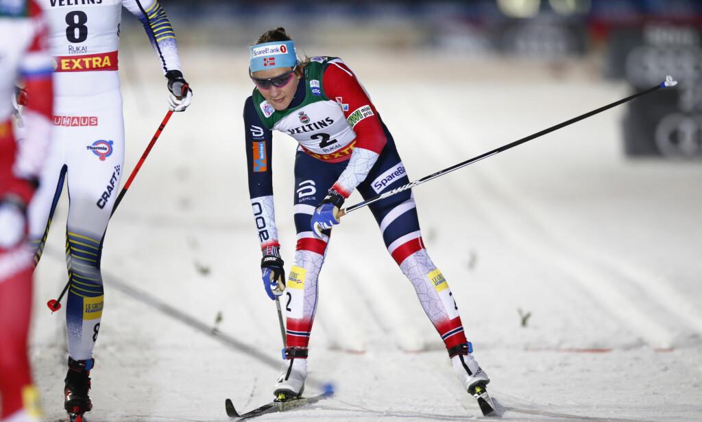 STIVNET: Det stoppet helt opp for Maiken Caspersen Falla på oppløpet i Finland. Foto: Terje Pedersen / NTB scanpix