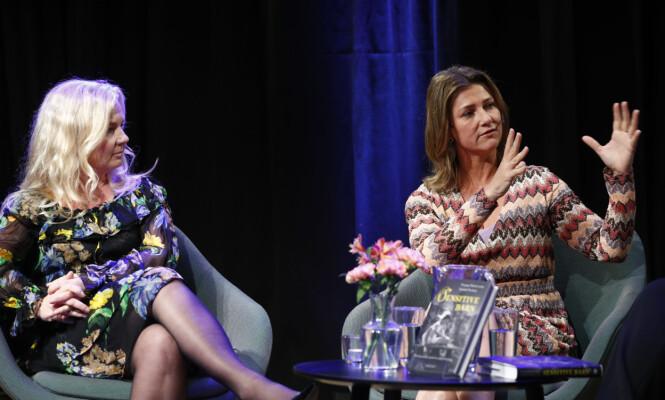 <strong>GITT UT FLERE BØKER:</strong> Prinsesse Märtha Louise (t.h.) og Elisabeth Nordeng presenterte boken «Sensitive barn» tidligere i år. Foto: Heiko Junge / NTB scanpix
