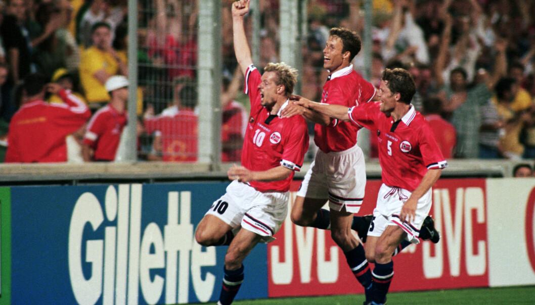 <strong>ENORM BETYDNING:</strong> Kjetil Rekdals rolle som norsk landslagsspiller var uvurderlig. Foto: NTB Scanpix