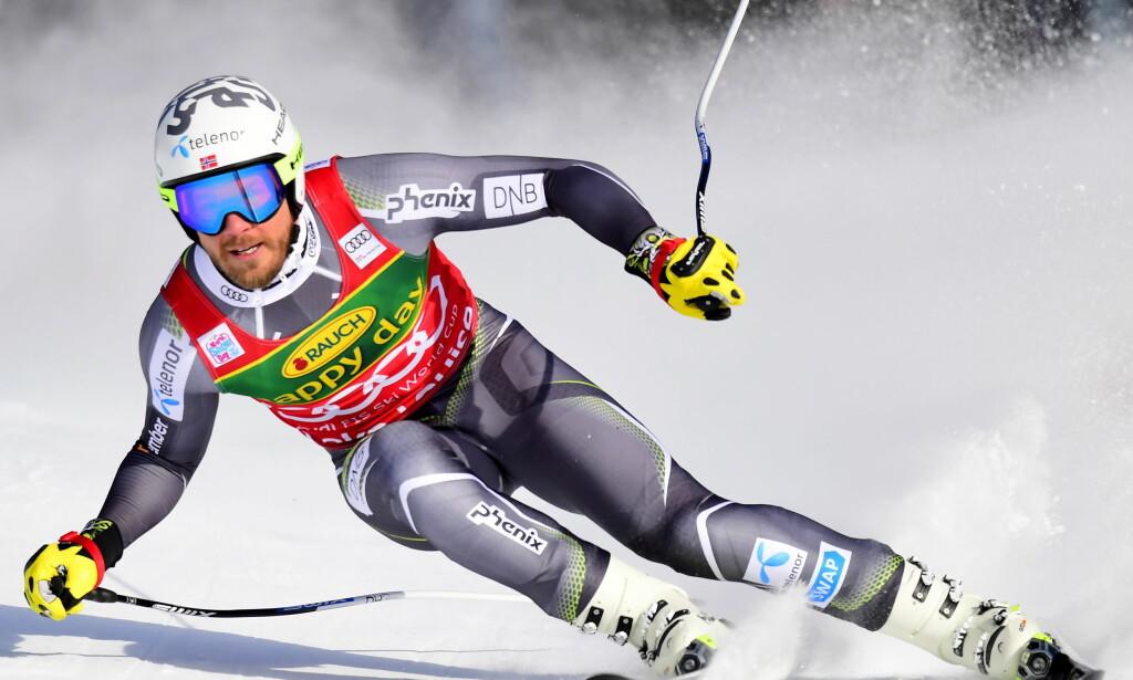 SEIER: Kjetil Jansrud vant i Lake Louise. Foto: AP / Frank Gunn
