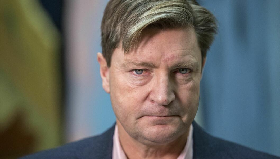 <strong>DØRA PÅ GLØTT:</strong> Christian Tybring-Gjedde åpner for at Krim kan anerkjennes som russisk, hvis det kommer som en del av samtaler med vesten.     Foto: Ole Berg-Rusten / NTB Scanpix