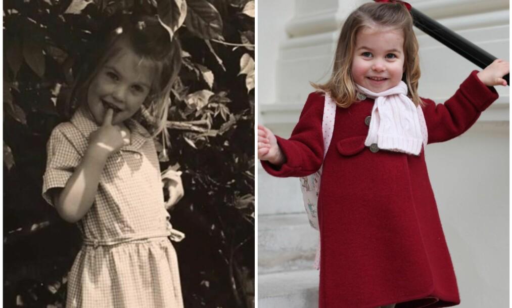 <strong>SLÅENDE LIKHET:</strong> Likheten mellom Lady Kitty Spencer og prinsesse Charlotte vekker oppsikt. Foto: Privat / Instagram / NTB Scanpix
