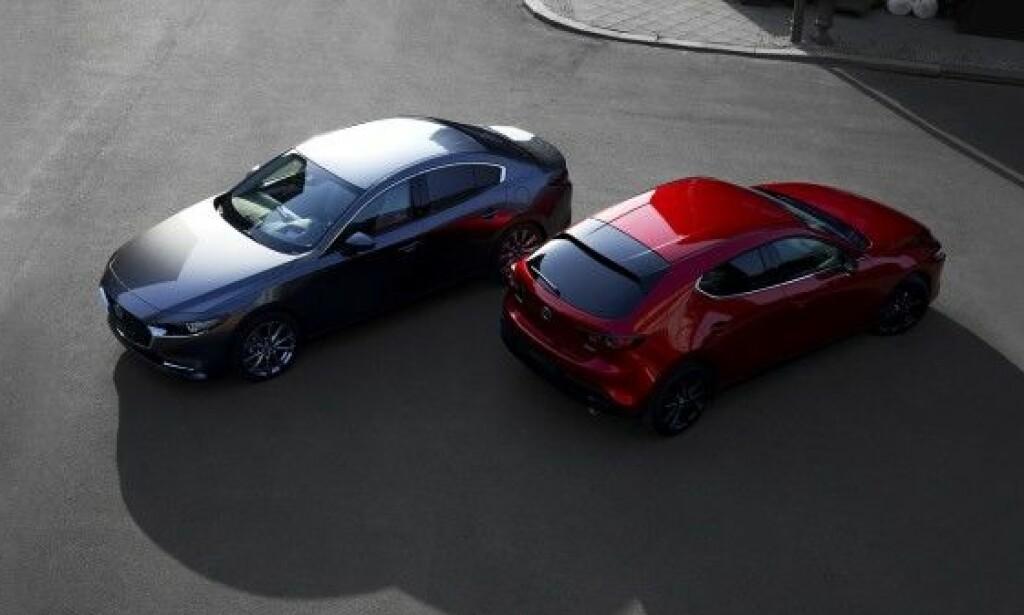 Mazda avduket i natt sedan- og hatchback-utgavene av sin splitter nye Mazda3. Foto: Mazda