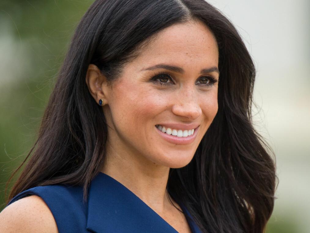 HERTUGINNE MEGHAN Har du lagt merke til at hertuginnen ofte bruker tre farger om og om igjen? Foto: Scanpix