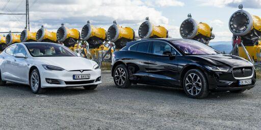 image: Duellen om el-tronen: Så bra er Jaguar i-Pace mot Tesla Model S