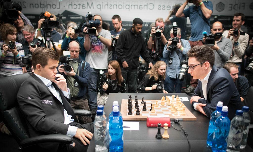 image: Magnus Carlsen knusende overlegen i omspillet