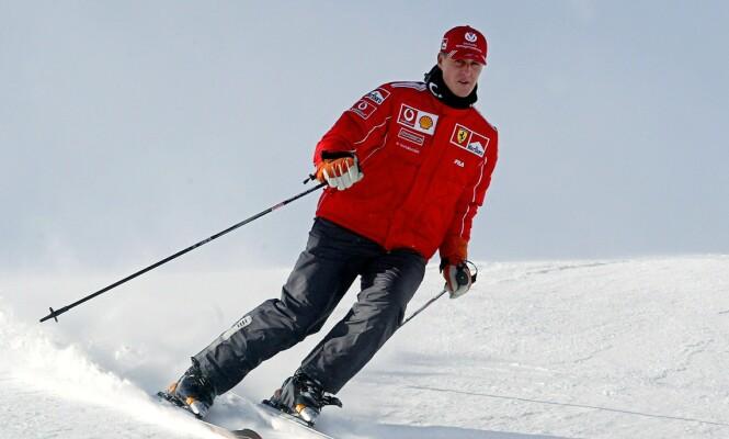 <strong>LEGENDE:</strong> Michael Schumacher var stadig å se i skibakken før ulykken i 2013. Her avbildet i 2004. Foto: NTB Scanpix