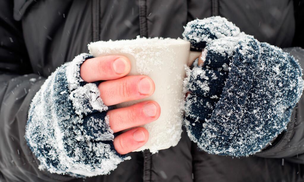 NEGLESPRETT: Fingrene og tærne er utsatte for kulde og gir sterke stikkende smerter på grunn av nedsatt blodgjennomstrømning, det er dette vi kaller neglesprett. Foto: NTB Scanpix/Shutterstock