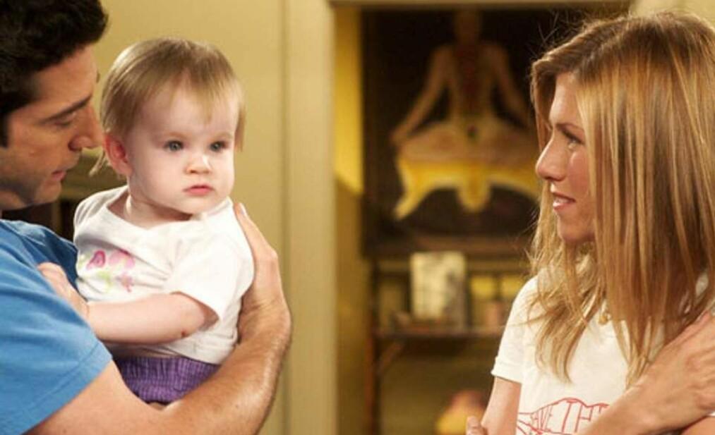 <strong>DEN GANG DA:</strong> Emma Geller-Green var barnet til av-og-på-paret Ross og Rachel i «Friends». FOTO: NBC