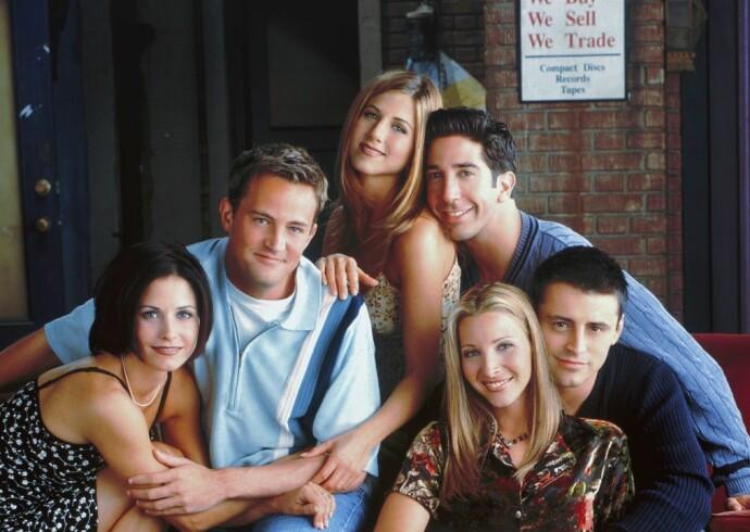 BRAKSUKSESS: «Friends» holdt koken i hele ti sesonger gjennom ti år. FOTO: NBC