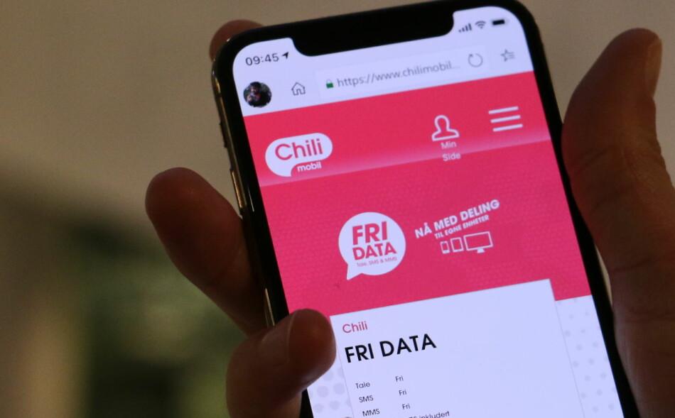 SKRUR OPP PRISEN: Chilimobils Fri Data består, men prisen går opp. Foto: Martin Kynningsrud Størbu