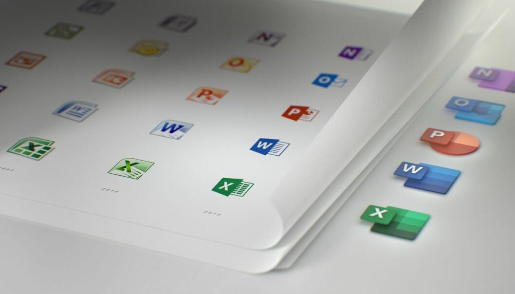 Office-ikonene er ikke blitt oppdatert på fem år. Foto: Microsoft.