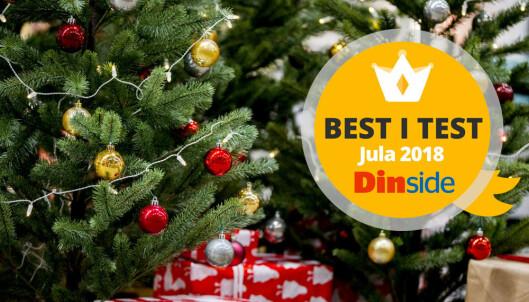 TEST: Store forskjeller på kunstige juletrær