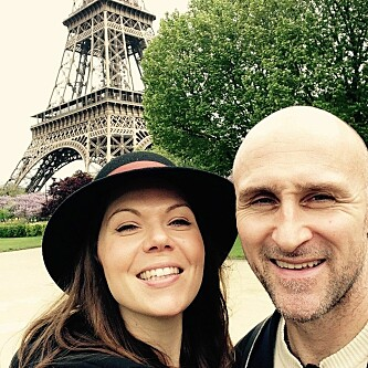 <strong>SELFIETIME:</strong> Alfsen og Andresen i Paris. Foto: Privat