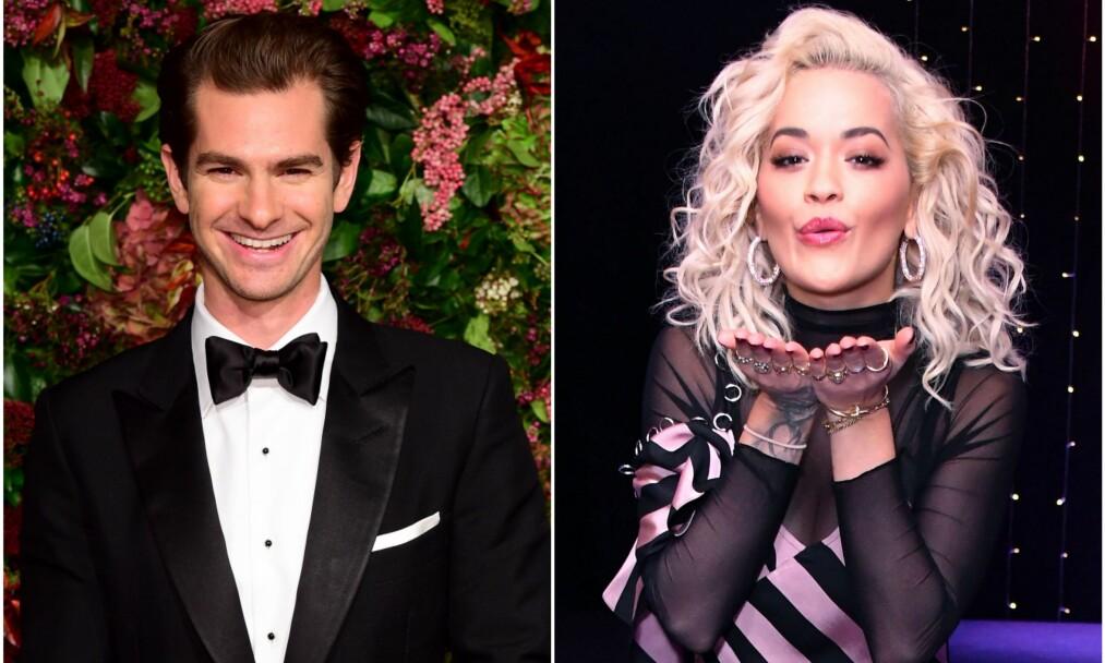 NYTT PAR? Det skal være en gryende romanse på gang mellom Andrew Garfield og Rita Ora. Foto: NTB Scanpix