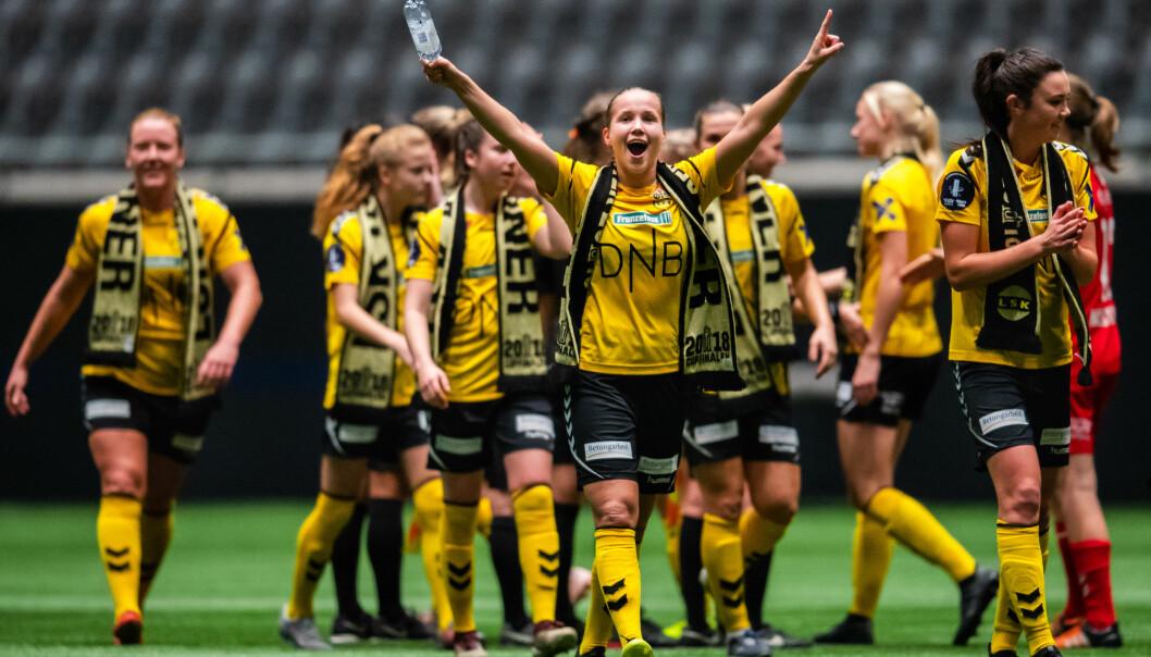 <strong>NORGES BESTE FOTBALLJENTER:</strong> Guro Reiten er frontfiguren i LSK Kvinner, Norges suverent beste lag. Både hun, LSK og norsk kvinnefotball trenger et spissere nivå for å kunne utvikle seg videre. Foto: Bildbyrån