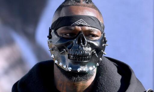 MASKE: Slik så Deontay Wilder ut, da han veide inn før kampen natt til søndag. Foto: AFP / NTB Scanpix