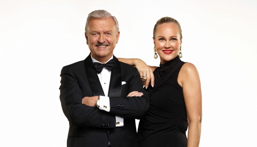 <strong>FORBLE STUM:</strong> I kveld gjorde Hallvard Flatland og Birgitte Seyffarth comeback med gamingshowet «Casino» på TVNorge. I forkant av premieren var det knyttet stor spenning til hvorvidt «Tause Birgitte» kom til å snakke på skjermen. Foto: TVNorge