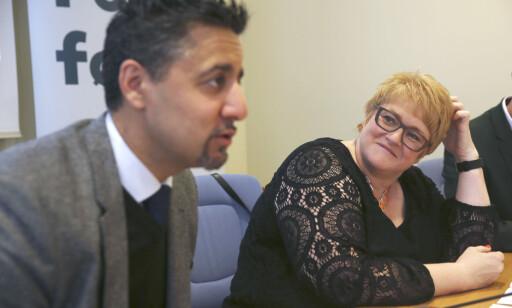 UNDERGRAVER: Venstre-leder Trine Skei Grande avviser at hun mener Abid Raja undergraver partiet, selv om det var nettopp dette hun sa på telefon til Høyres Henrik Asheim. Foto: Vidar Ruud / NTB scanpix