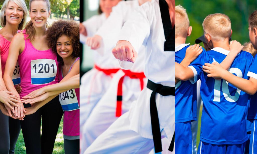 SOSIAL IDRETT: Ifølge amerikanske forskere, vil personer som driver med sosial idrett leve lenger enn de som trener alene. FOTO: NTB Scanpix