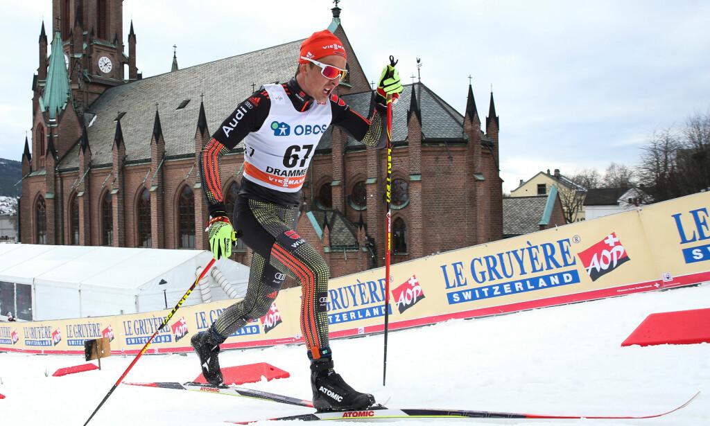 SLÅR TILBAKE: Janosch Bruggers første verdenscupseier i karrieren kom på Lillehammer på søndag, men i stedet for hyllest ble han møtt med påstander om flaks. Nå slår tyskeren tilbake. Foto: Bildbyrån
