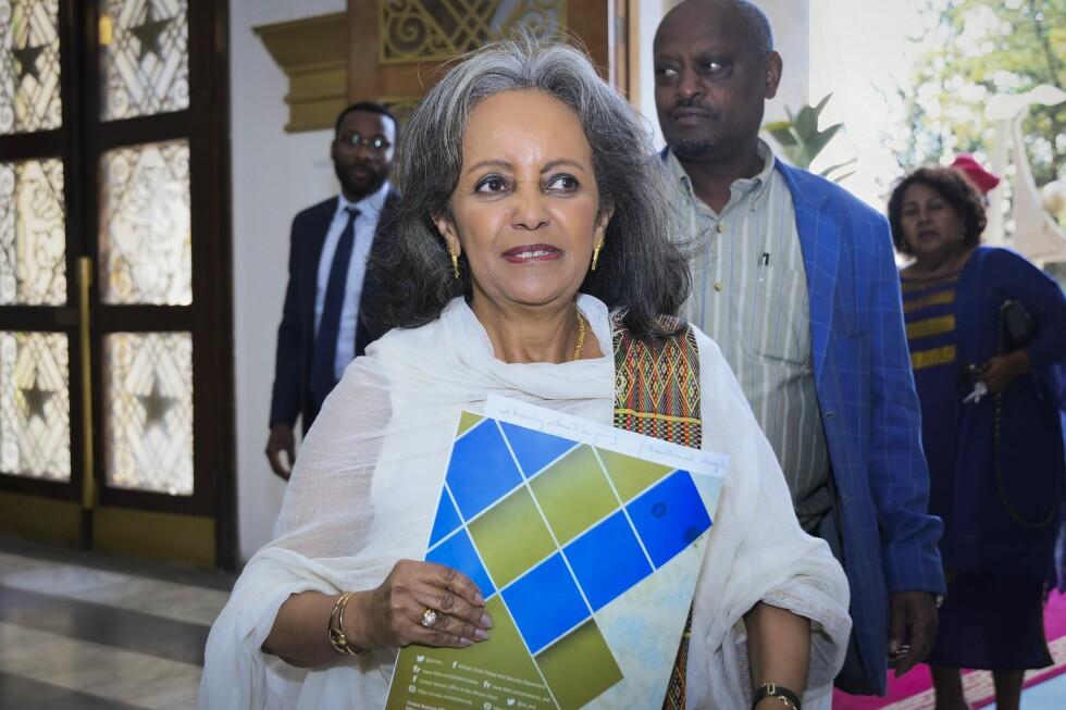 DEN FØRSTE KVINNEN: Etiopia fikk i slutten av oktober også kvinnelig president: Tidligere ambassadør og FN-utsending Sahle-Work Zewde ble valgt til statsoverhode av parlamentet. Og så, i november, valgte parlamentet en kvinne, Meaza Ashenafi, til også å lede Høyesterett. Foto: NTB Scanpix