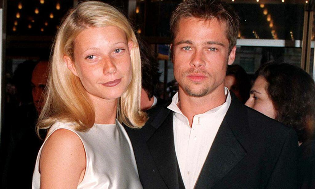HOT PAR: Gwyneth Paltrow og Brad Pitt rakk å forlove seg mens de var kjærester i fire år på 90-tallet. Foto: NTB Scanpix