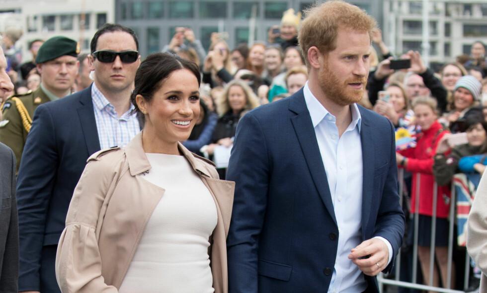 HAR ANDRE PLANER: Hertuginne Meghan og prins Harry har termin neste vår, og nå skal angivelig Meghan planlegge å føde sitt første barn hjemme, fremfor på sykehuset. Foto: NTB scanpix