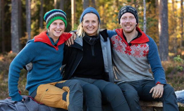 SEMIFINALETRIO: Tonje Frøystad Garvik (29), Karianne Sissener Amundsen (28) og Kjetil Nørstebø (28) blir med videre til søndag. Foto: Alex Iversen / TV 2