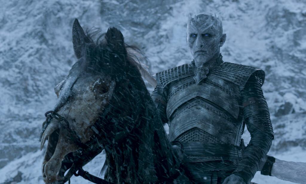 «NIGHT KING»: Vladimir Furdik spiller karakteren «The Night King» i «Game of Thrones». I et nylig intervju avslørte han en detalj som kan være avgjørende for framgangen i handlingen i den siste sesongen. Foto: HBO Nordic