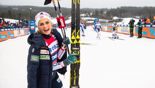 ANKERDILEMMA: Therese Johaug er en av flere som kan bli Norges nye ankerkvinne, selv om hun ikke er kjent for sine avslutningsegenskaper. Foto: Bildbyrån