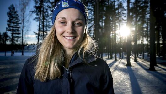 STINA NILSSONS VURDERING: I norsk kvinnelangrenn snakkes det mye om hvordan Stina Nilsson skal slås på en ankeretappe i VM. Selv er Nilsson usikker på om hun kommer til å gå den. Foto: Bjørn Langsem / Dagbladet