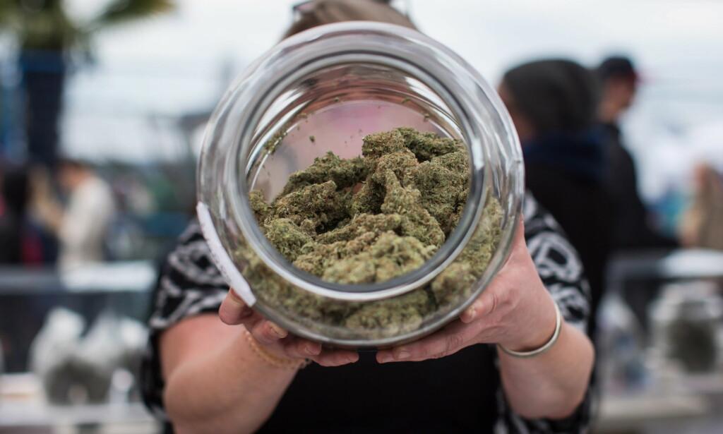 Til salgs: I regulerte former, selges cannabis nå lovlig i Canada. Foto: THE CANADIAN PRESS/Darryl Dyck