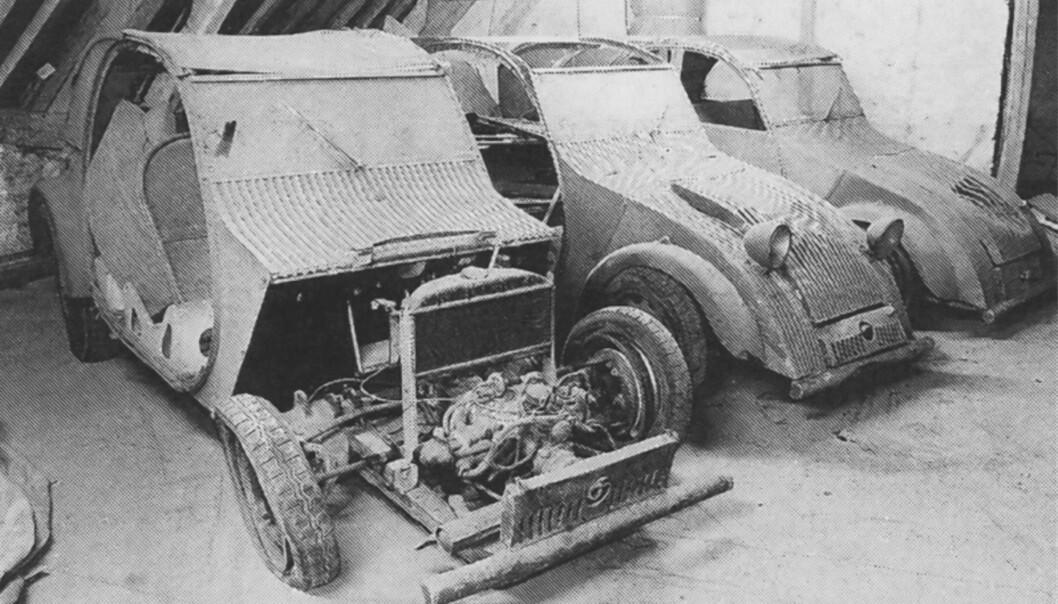 <strong>FANTASTISK FUNN:</strong> I 1994 ble disse tre prototypene funnet på et loft i Frankrike. Foto: Paal Kvamme