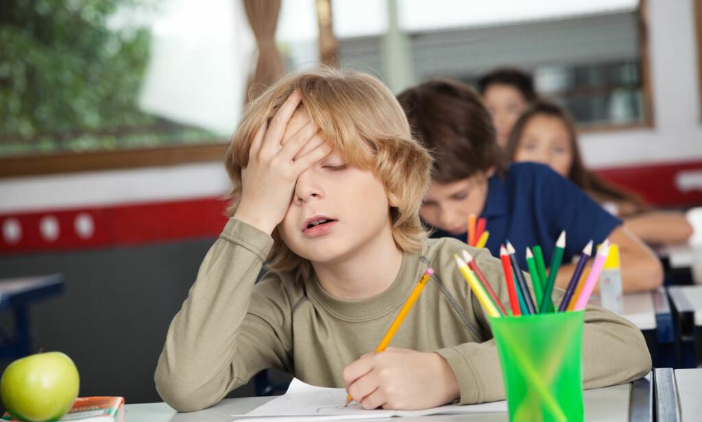 LÆREVANSKER: Dårlig konsentrasjon trenger ikke være ADHD. En ny studie kan tyde på at mange barn som får diagnosen, ikke burde hatt den. Foto: NTB Scanpix.