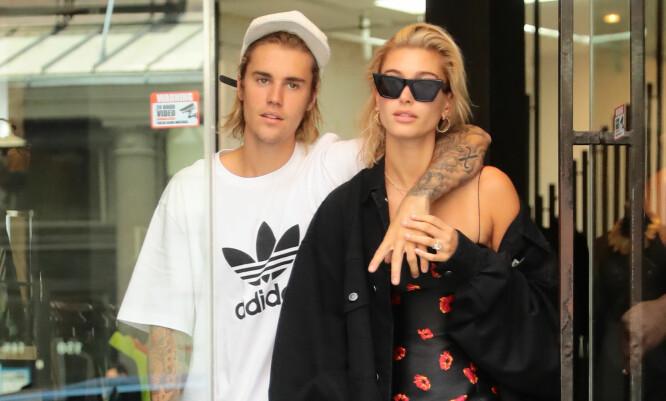 UNGT EKTEPAR: Justin Bieber og Hailey Bieber Baldwin, som er henholdsvis 24 og 22 år gamle, giftet seg i år. FOTO: Scanpix