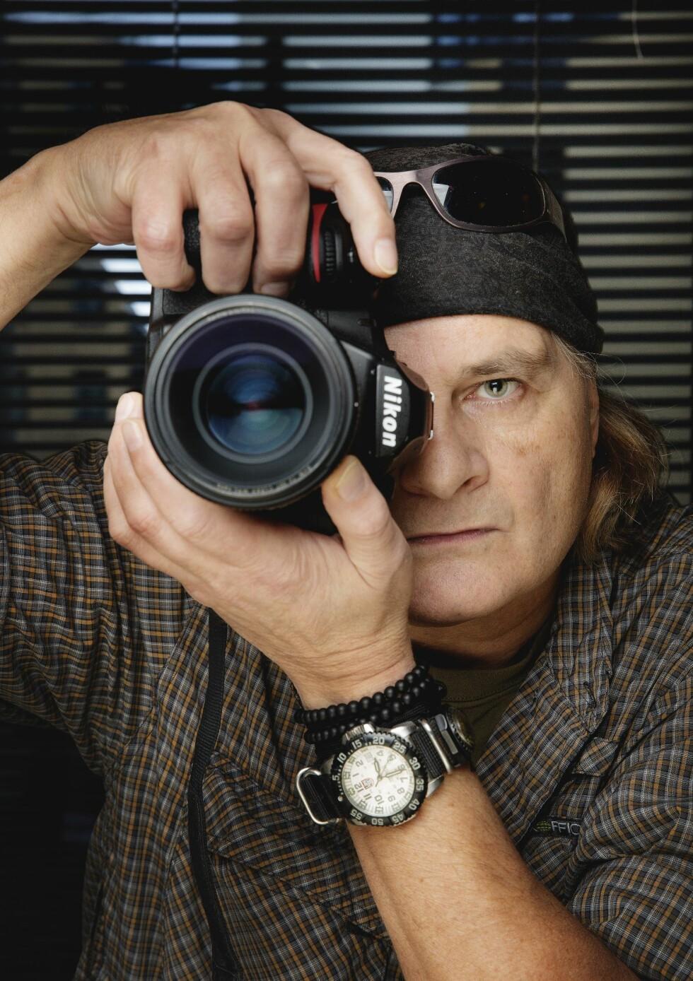 MANNEN BAK MYTEN: Krigsfotografen Harald Henden (58) er så respektert at det finnes et eget uttrykk om ham: «Det er Harald Henden». Foto: Agnete Brun