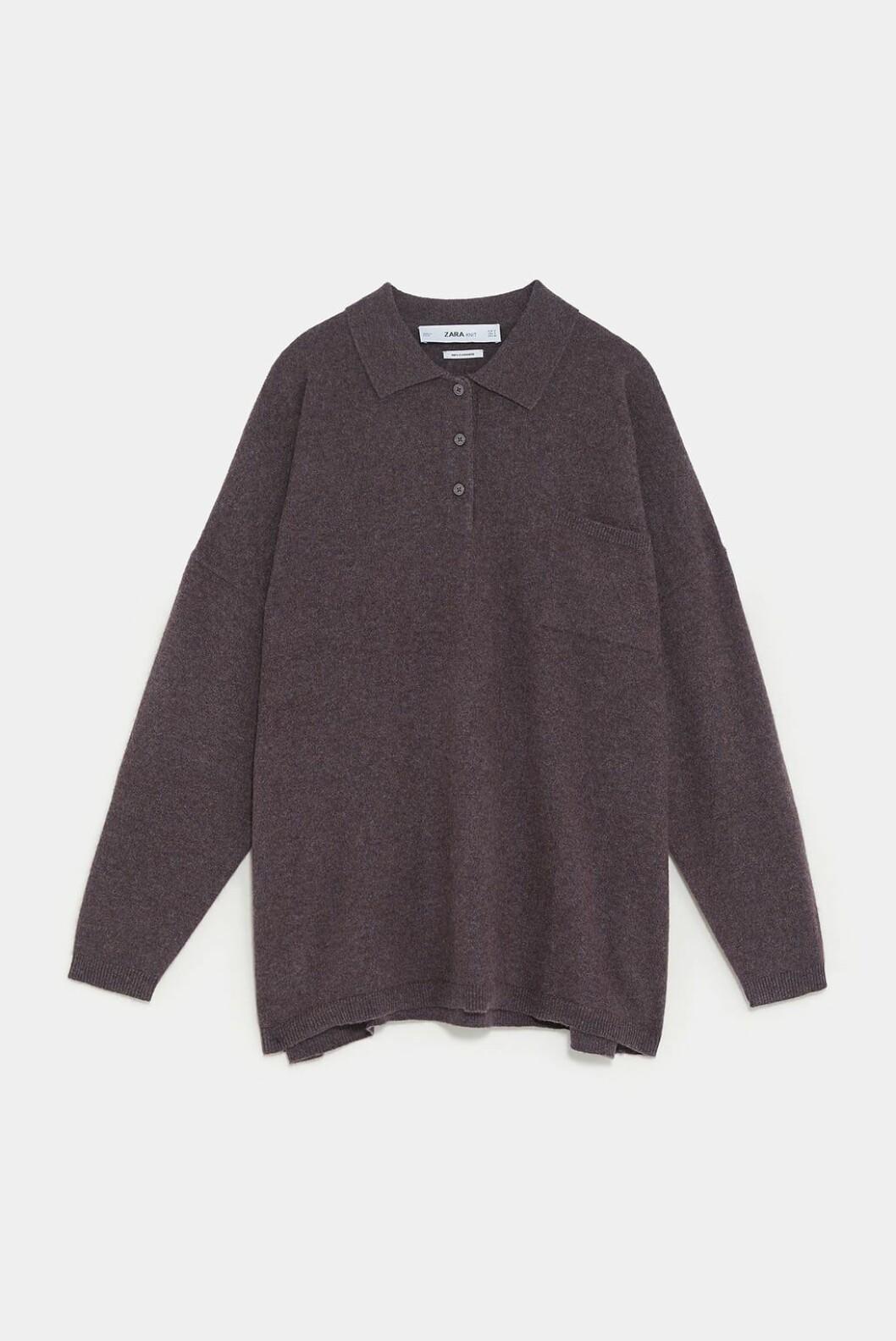 Polo i kasjmir fra Zara |1695,-| https://www.zara.com/no/no/polo-i-kasjmir-limited-edition-p00166100.html?v1=8290655&v2=1074660