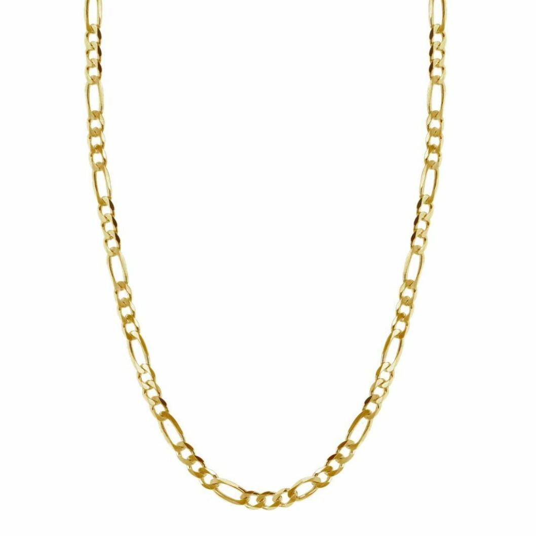 Kjede fra Hasla |1200,-| https://haslajewelry.com/product/space-flat-figaro-chain-gold/